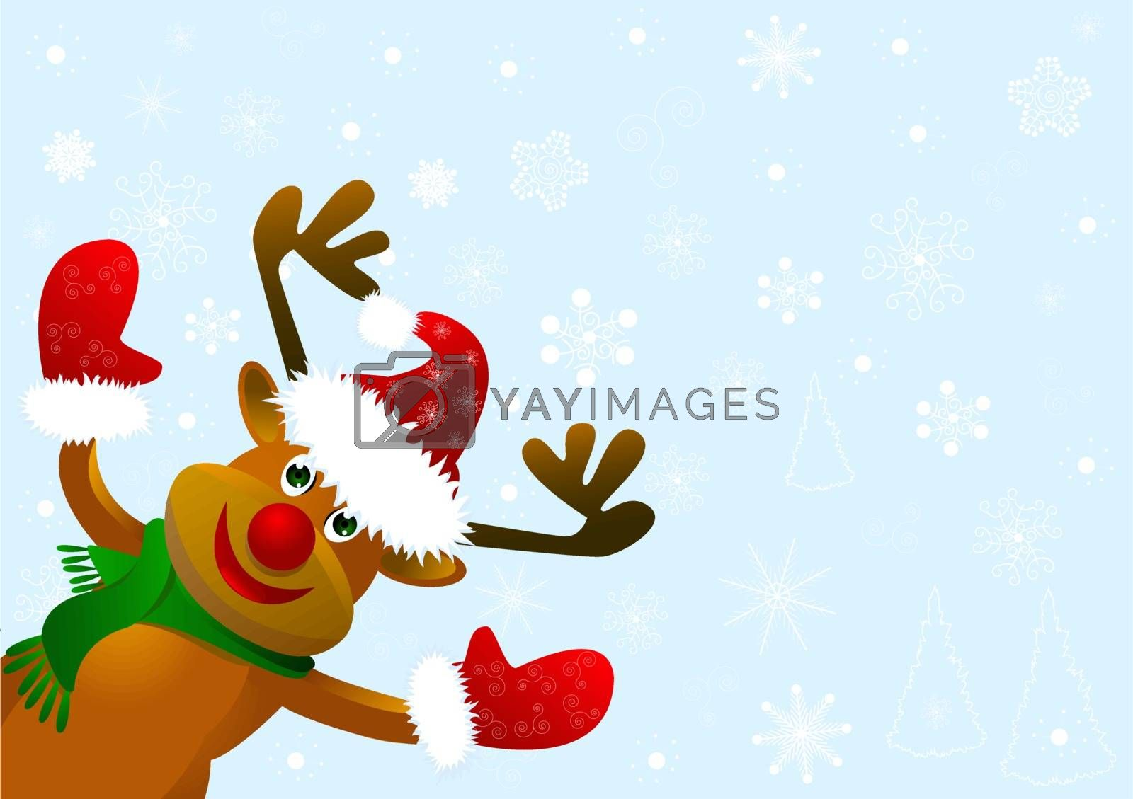 Funny cartoon deer. by liolle