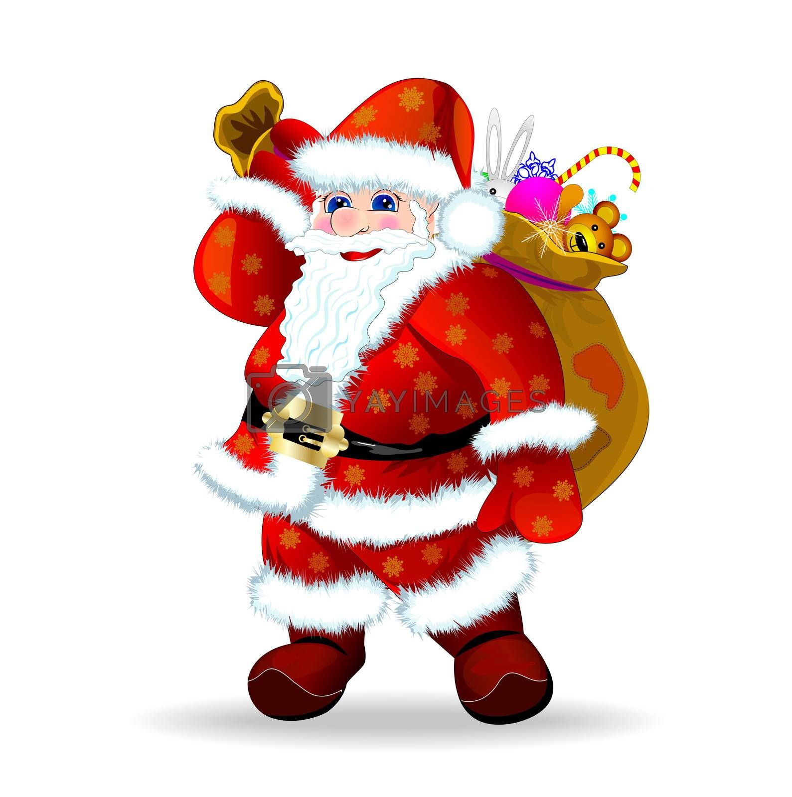 Santa Claus with presents by liolle