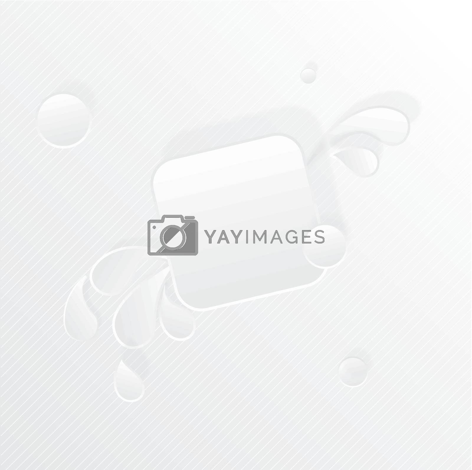 Paper square banner with drop shadows on white background. Vector illustration
