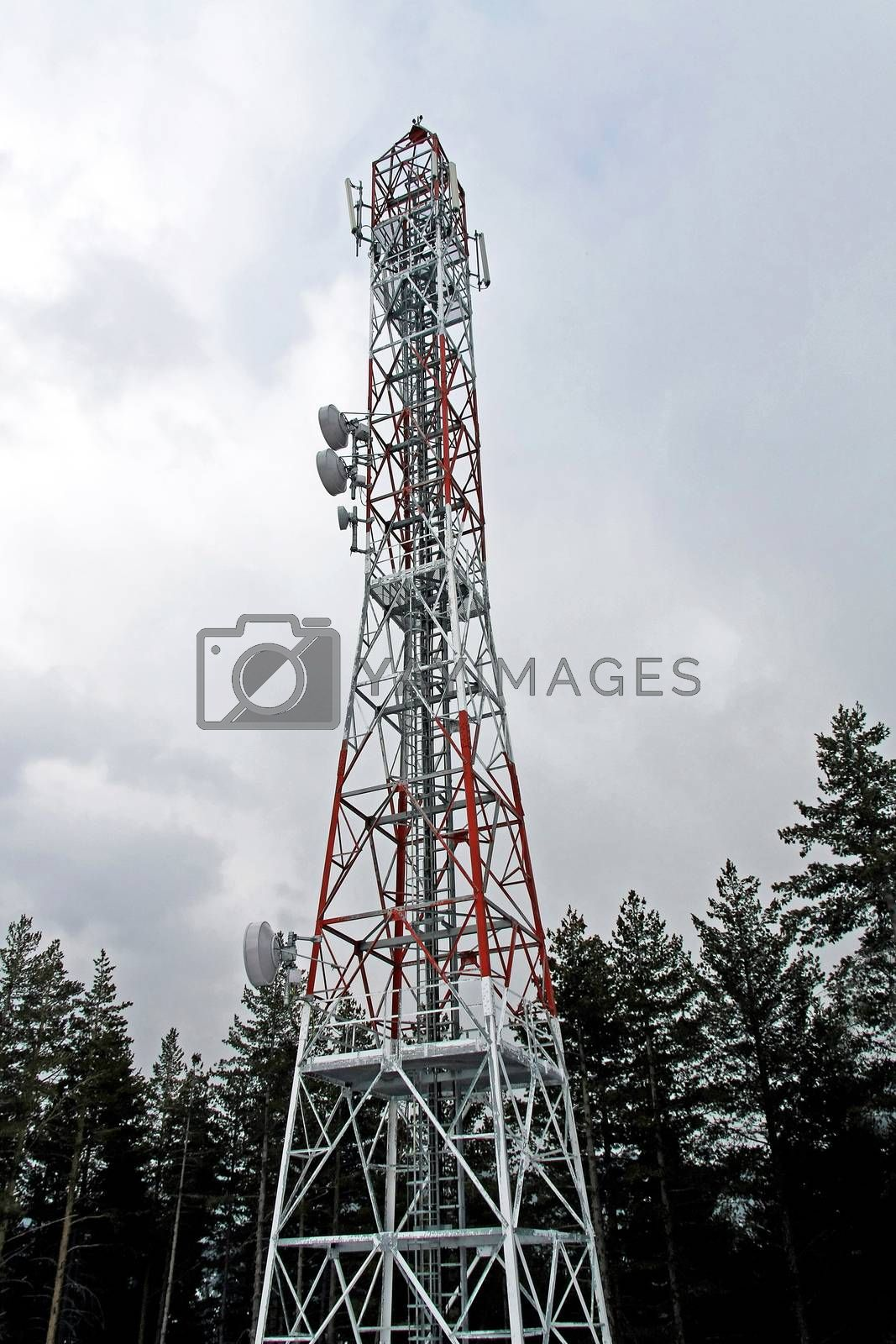 Very tall structure of communication antenna tower