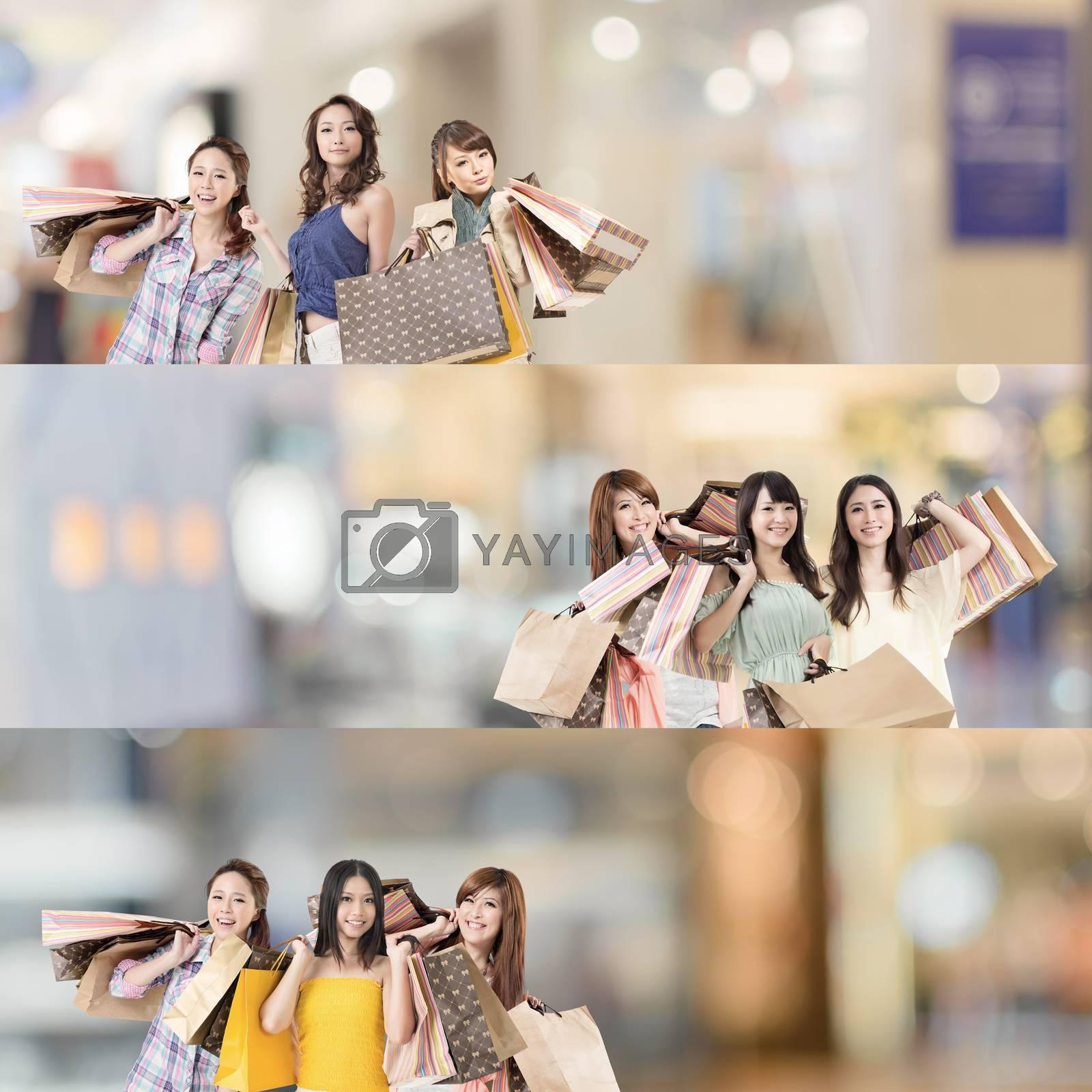 Asian woman shopping by elwynn
