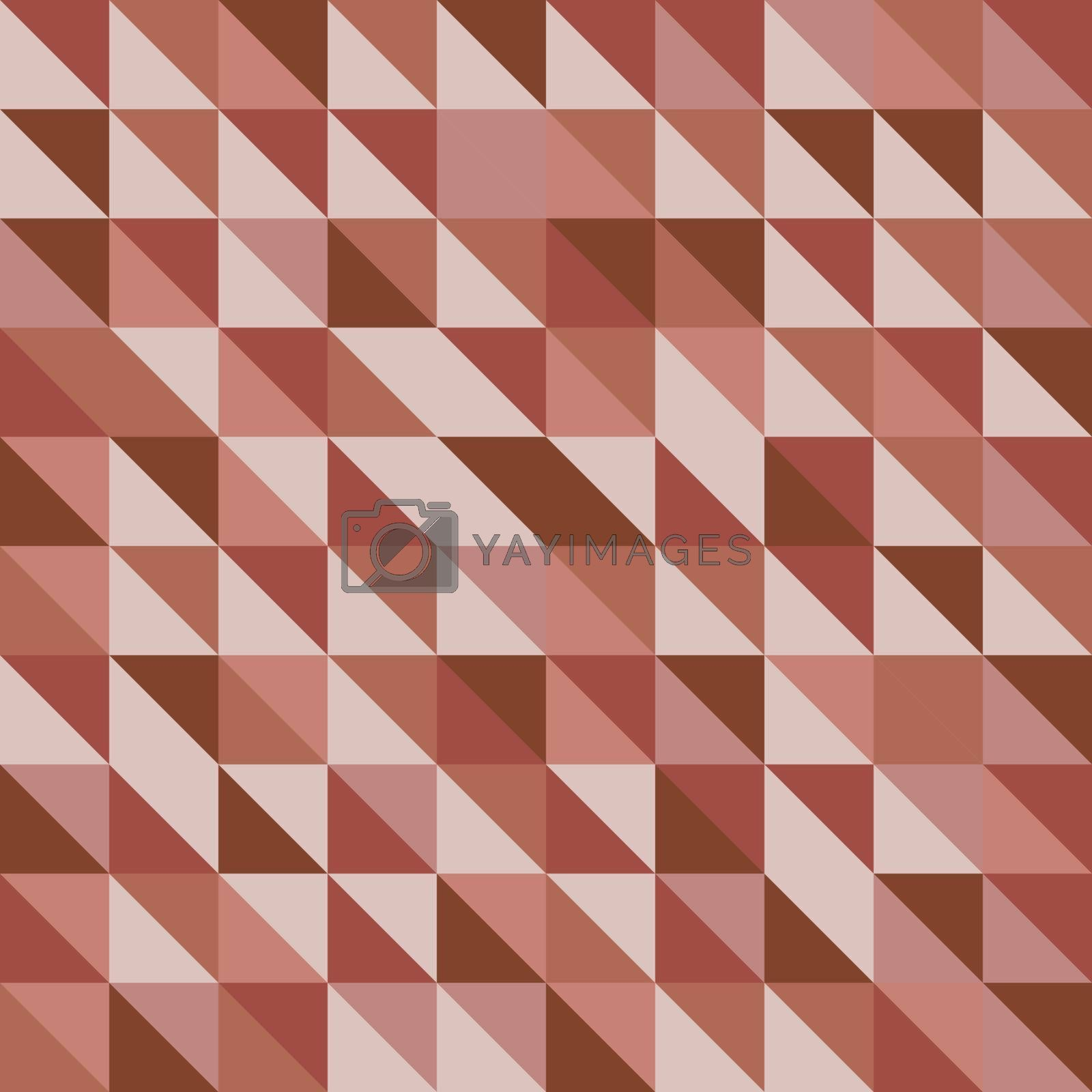 Retro triangle pattern with red background, stock vector