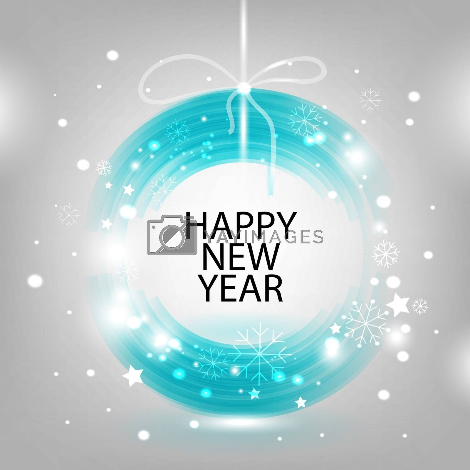 Abstract vector background for New Year and Christmas
