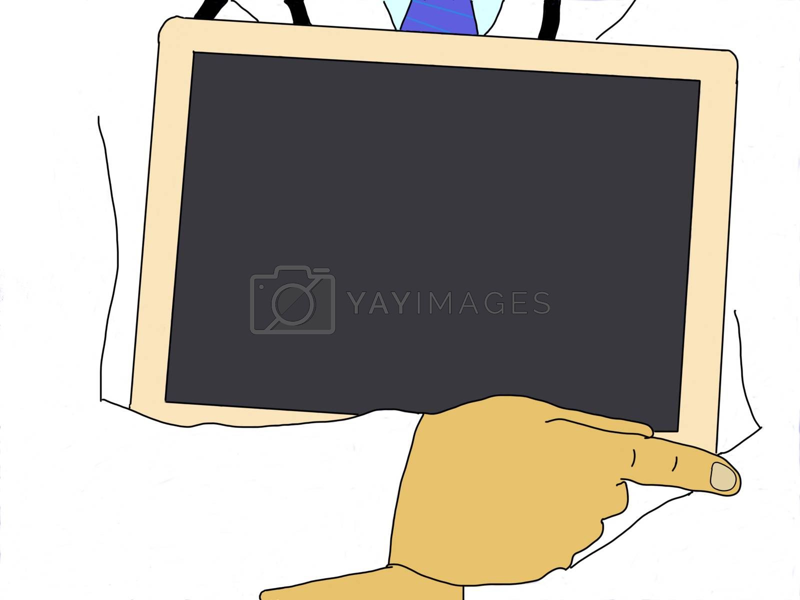 Illustration: Medical doctor with blackboard