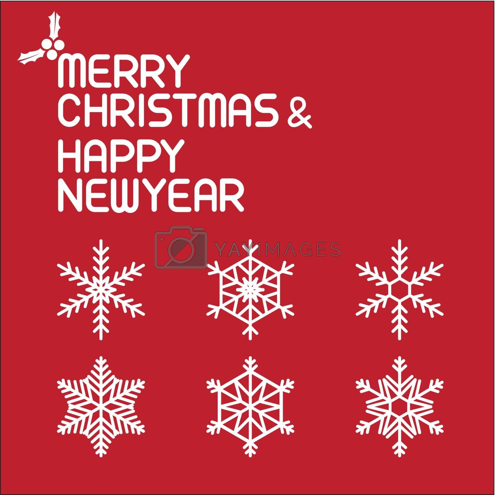 christmas vector illustration , vector lettering
