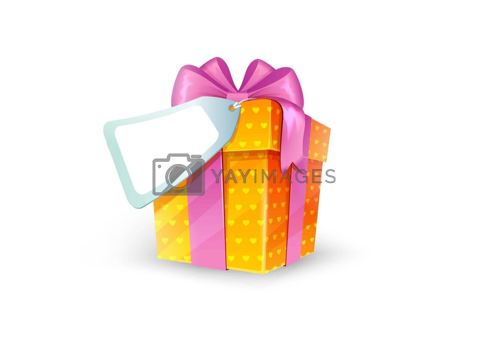 Vector illustration of Gift box with bow