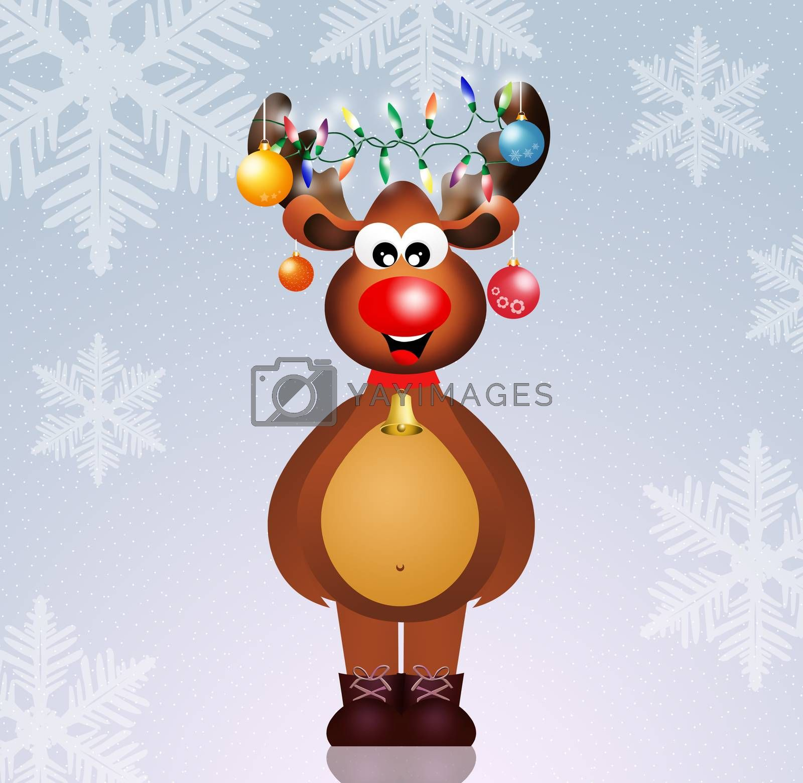 illustration of Christmas reindeer
