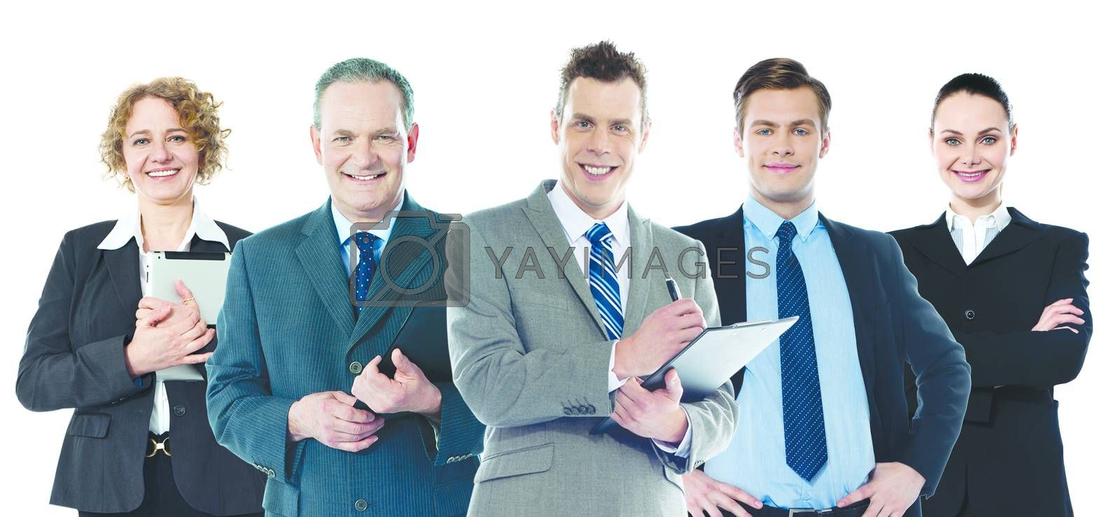 Group of business people posing to camera