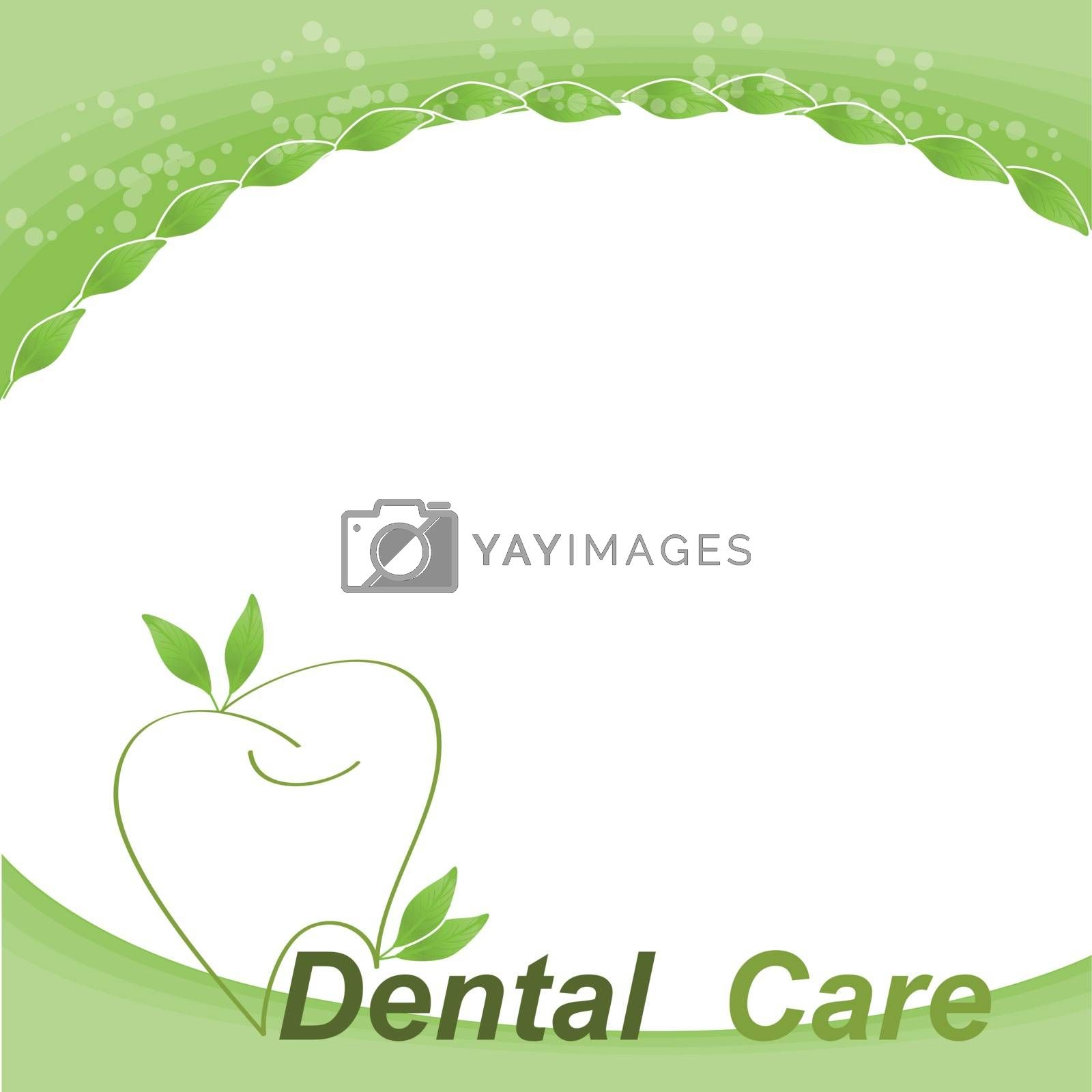 Healthy tooth and half tooth cross section abstract natural treatment concept design