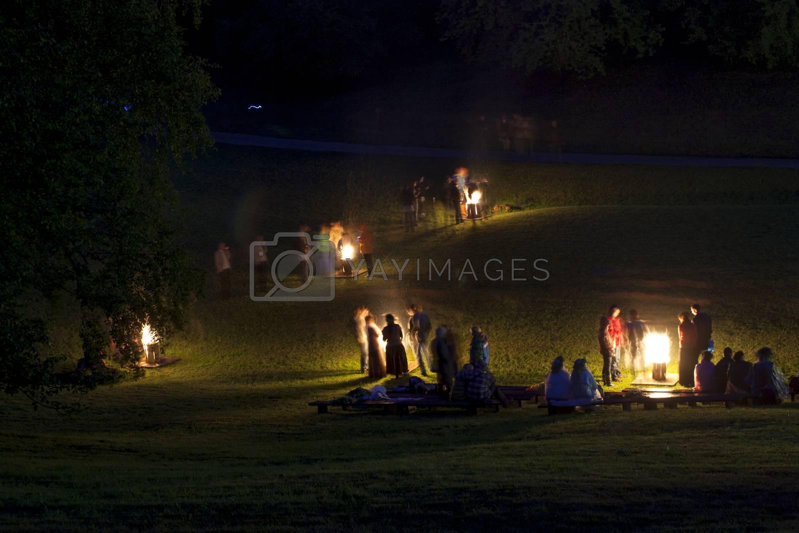 Midsumer or John's eve celebration in Latvia by ints