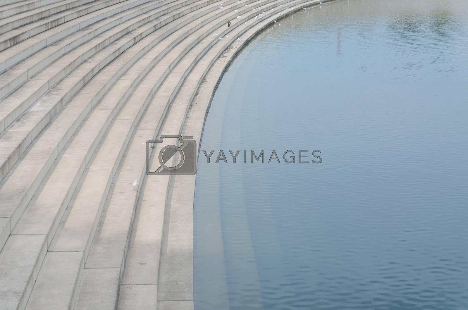 Royalty free image of Stairs, stand under water by JFsPic