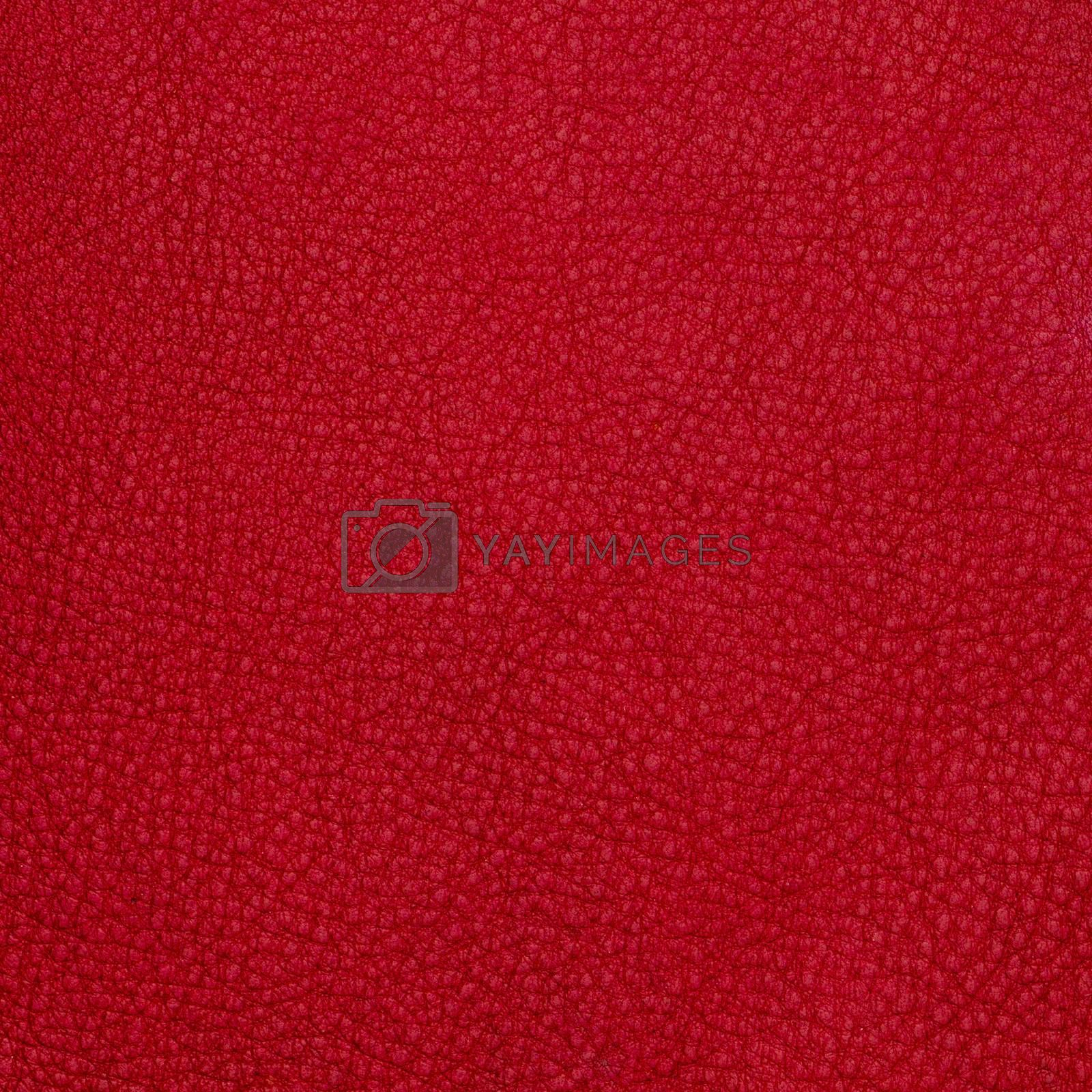 Red leather texture background.