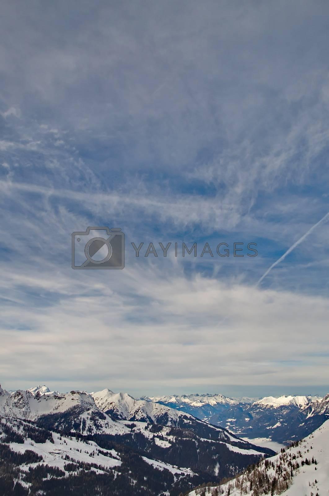 Mountains of Nassfeld in Austria