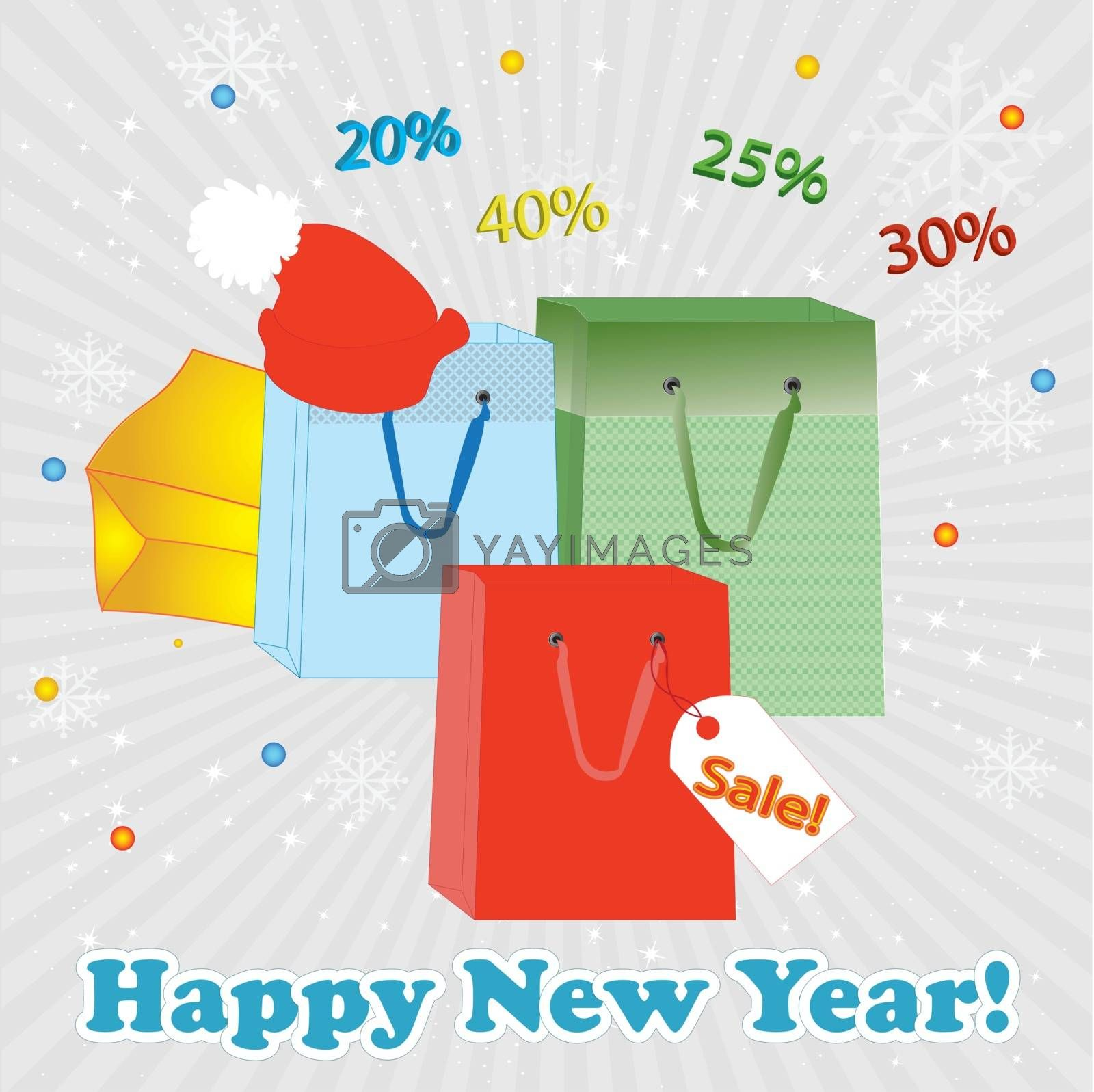 Winter sale. Christmas sale. New year sale. Vector illustration , Creative  greeting card design.