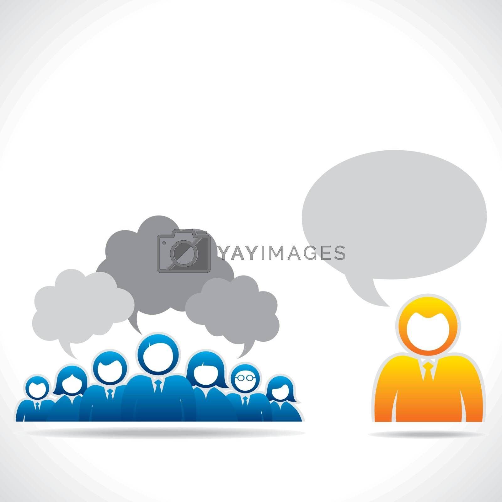 meeting or discussion between group of people