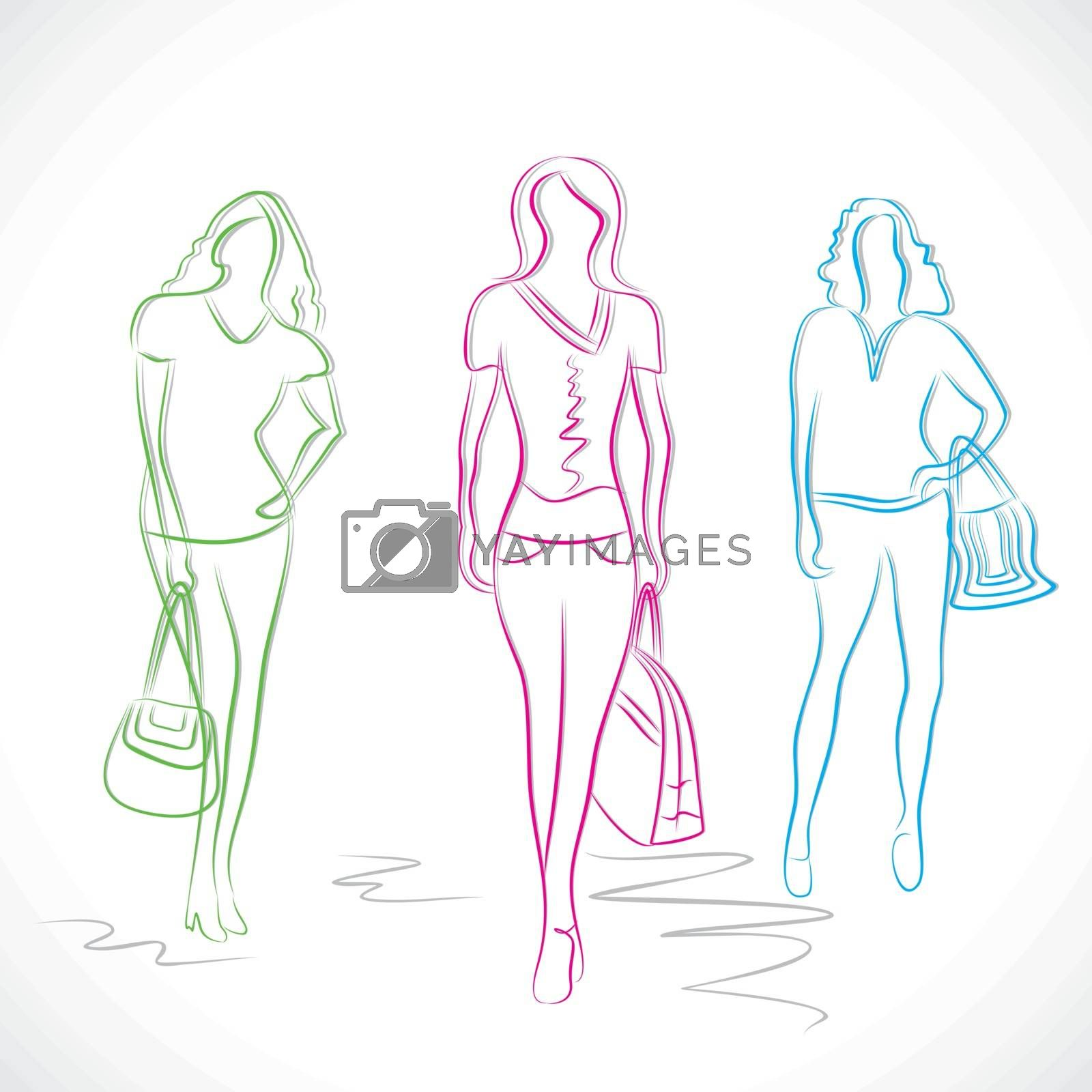fashion girl in style stock vector