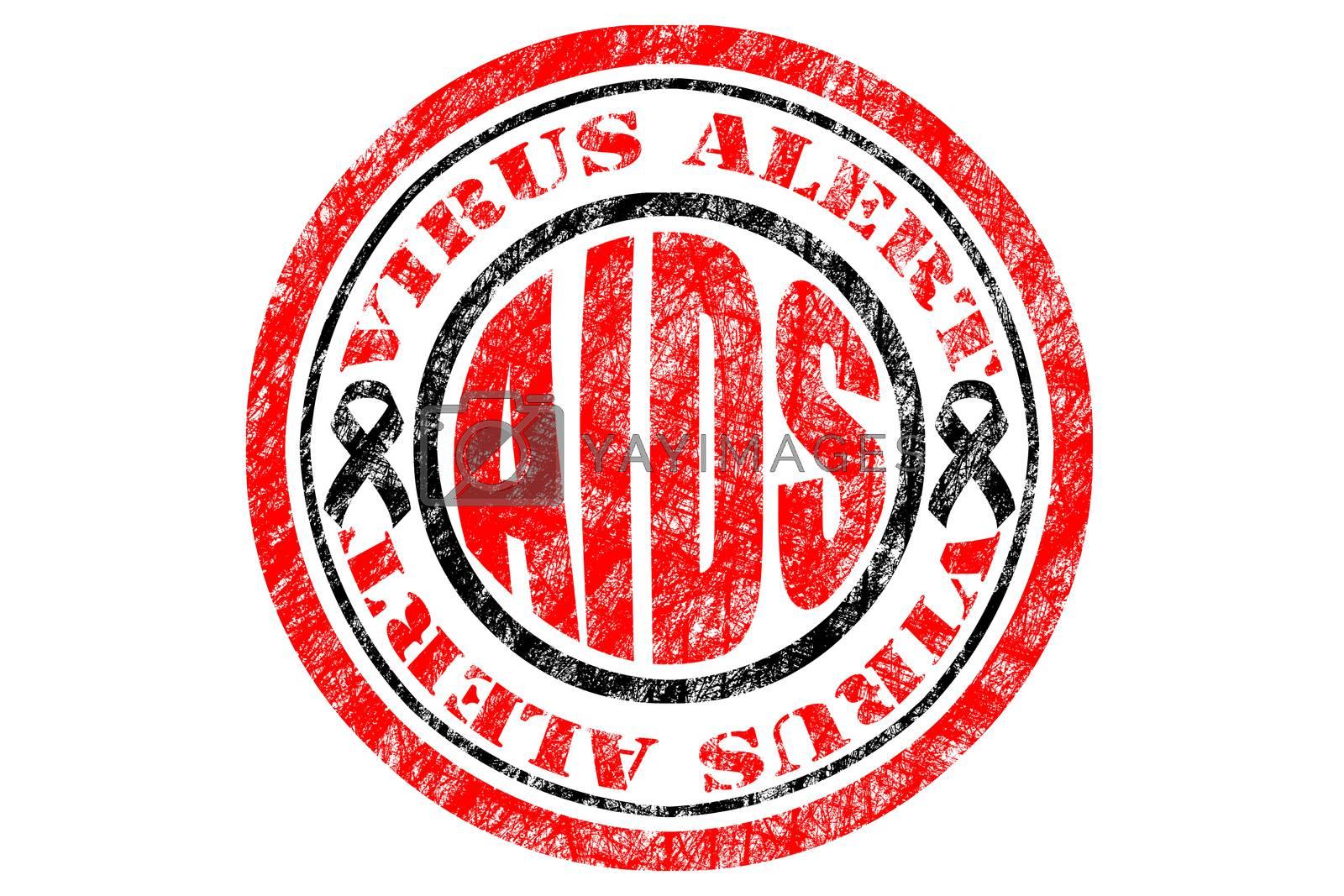 HIV, AIDS Virus Alert Concept