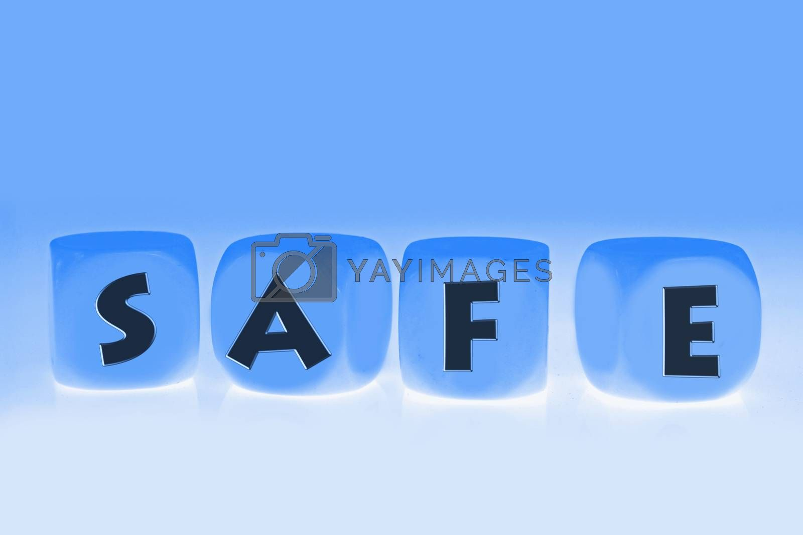 word Safe on cubes