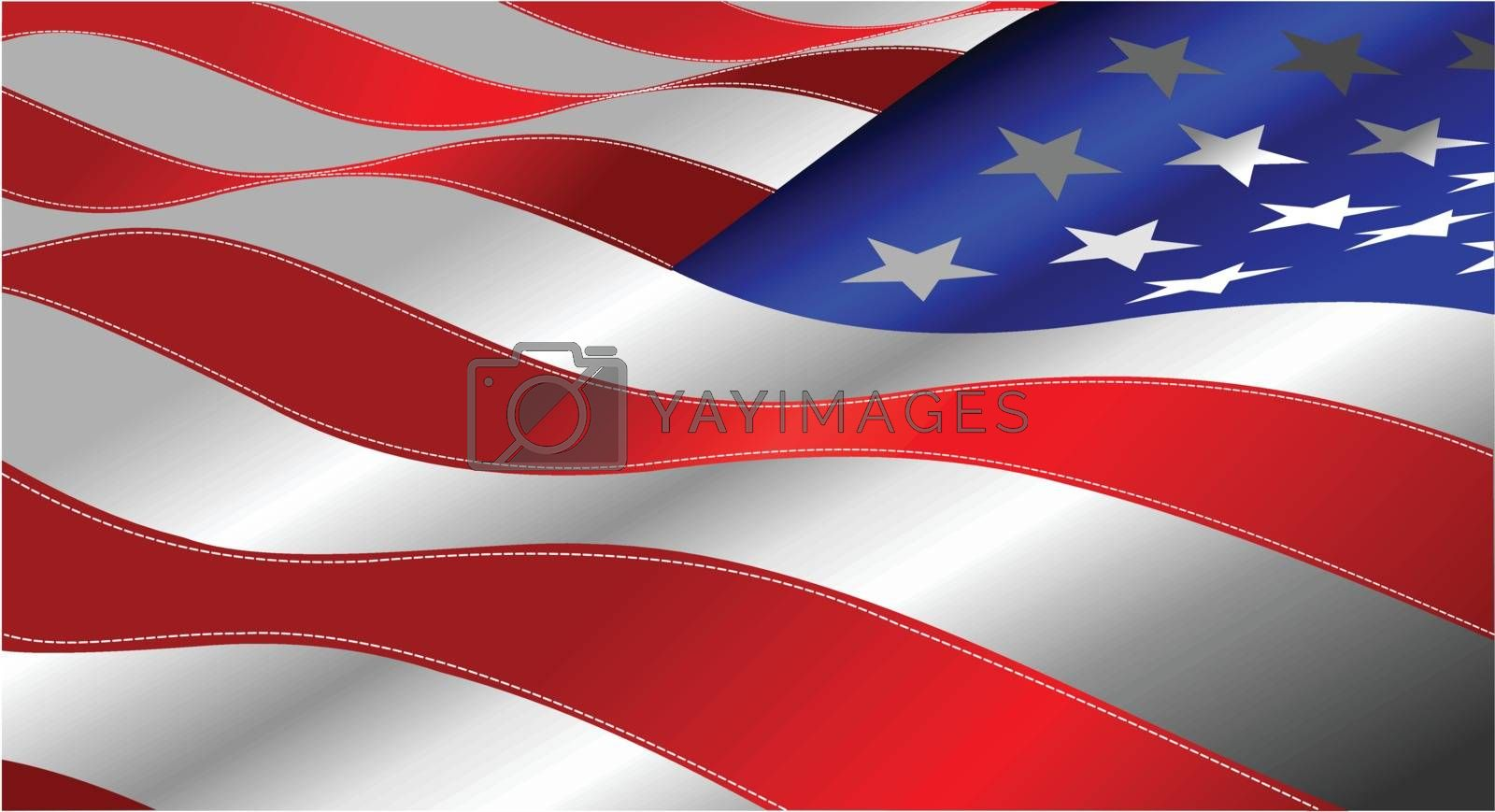 4th July ��� Independence day of United States of America. Poster for  graphic designers