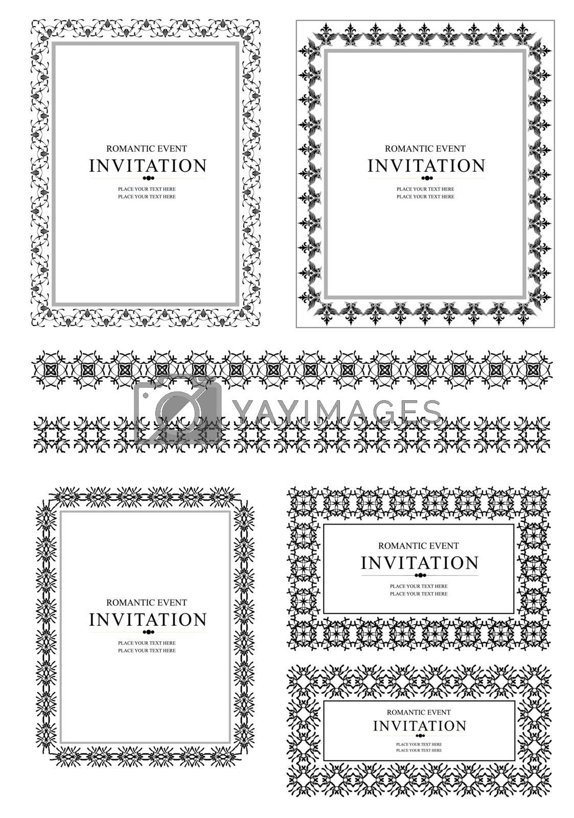 Royalty free image of Collection of ornate vector frames by leonido