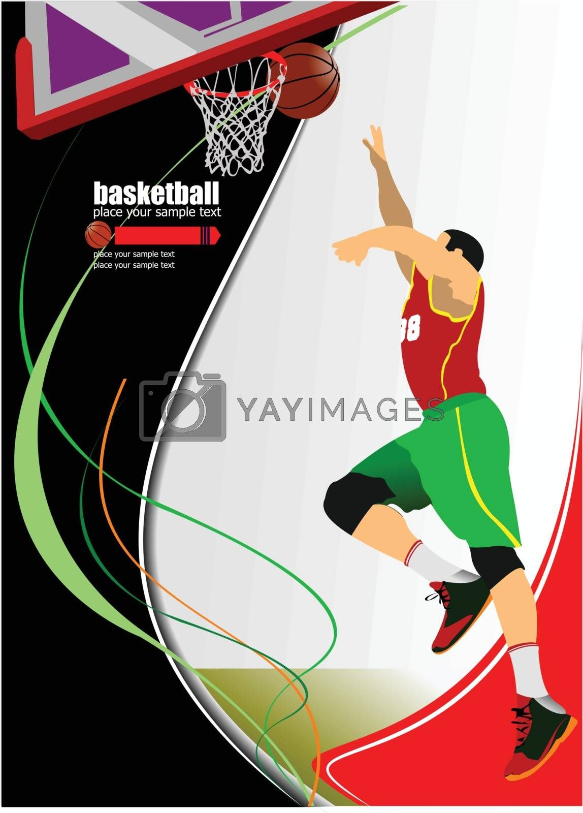 Royalty free image of Basketball players. Vector illustration by leonido