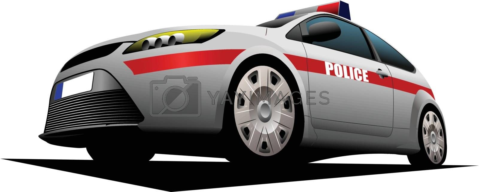 Royalty free image of Police car. Sheriff. Vector illustration. by leonido