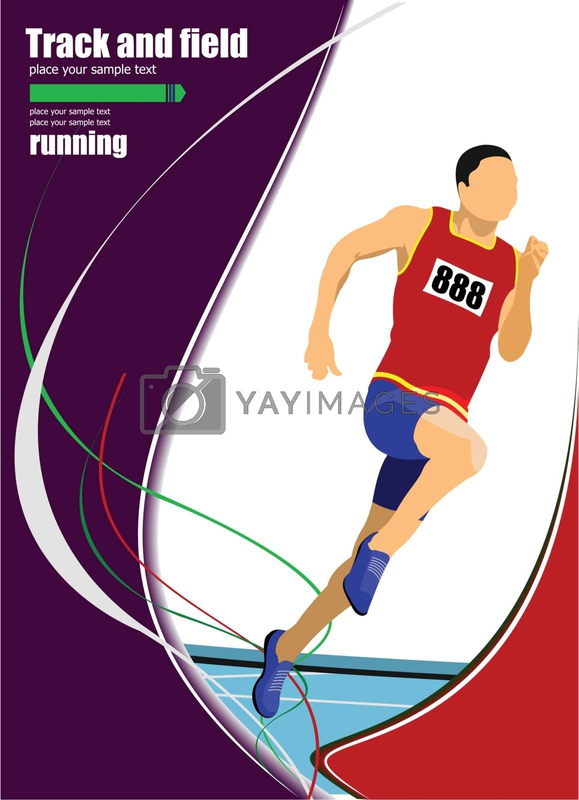 Royalty free image of Long-distance runner. Short-distance runner. Vector illustration by leonido