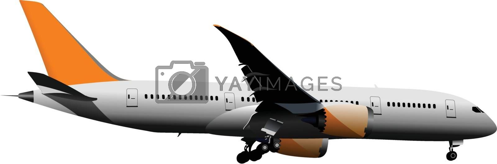 Royalty free image of Airplane on the air. Vector illustration by leonido