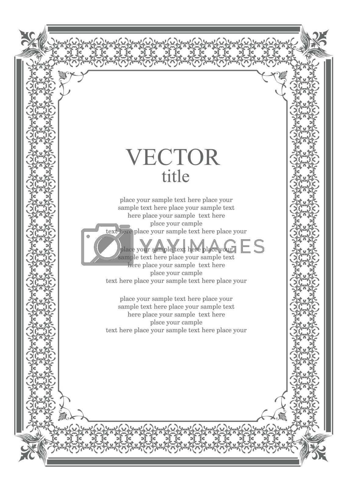 Royalty free image of Black ornament on white background. Can be used as invitation ca by leonido