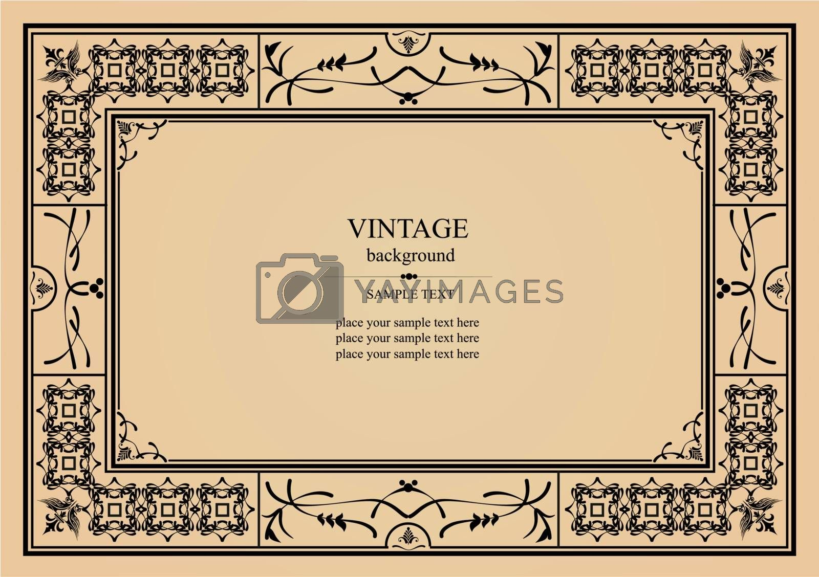 Royalty free image of Vintage ornament on pink background. Can be used as invitation c by leonido