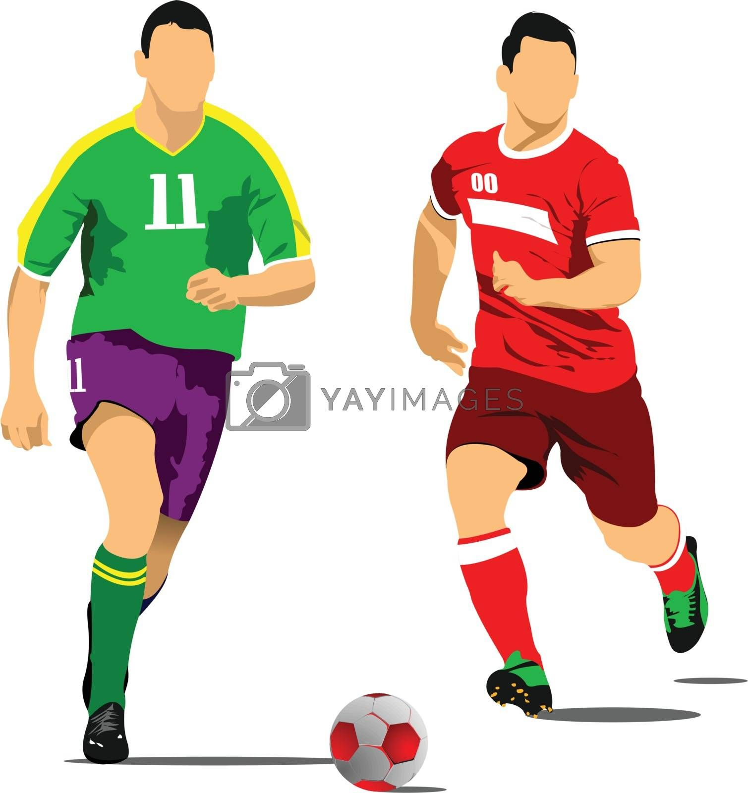 Royalty free image of Soccer player poster. Vector illustration by leonido