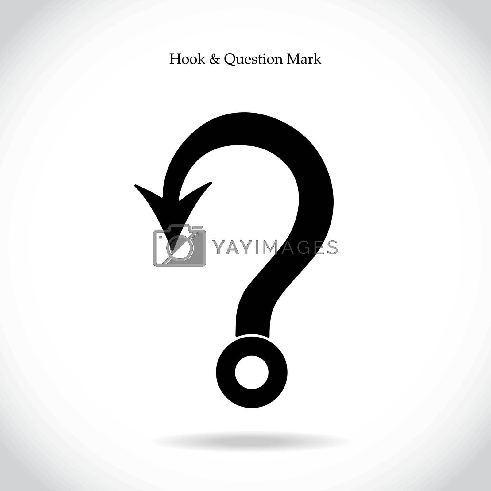 Royalty free image of Fishing hook question mark by chatchai5172