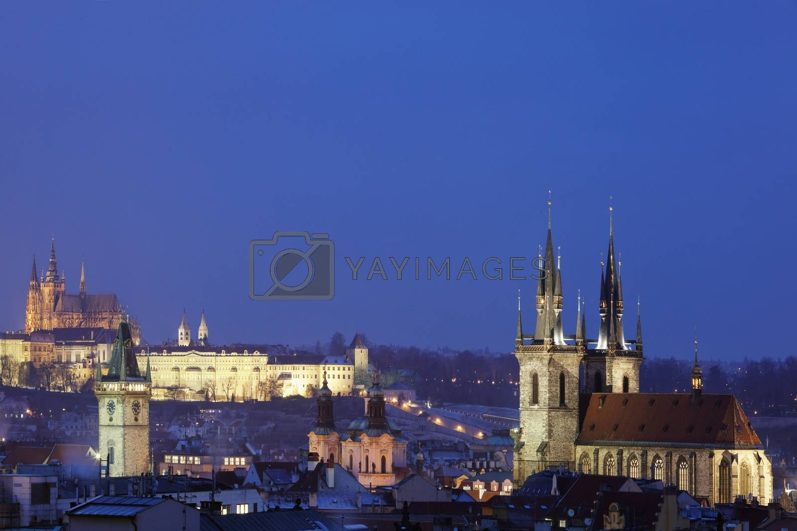 Royalty free image of prague in winter by courtyardpix