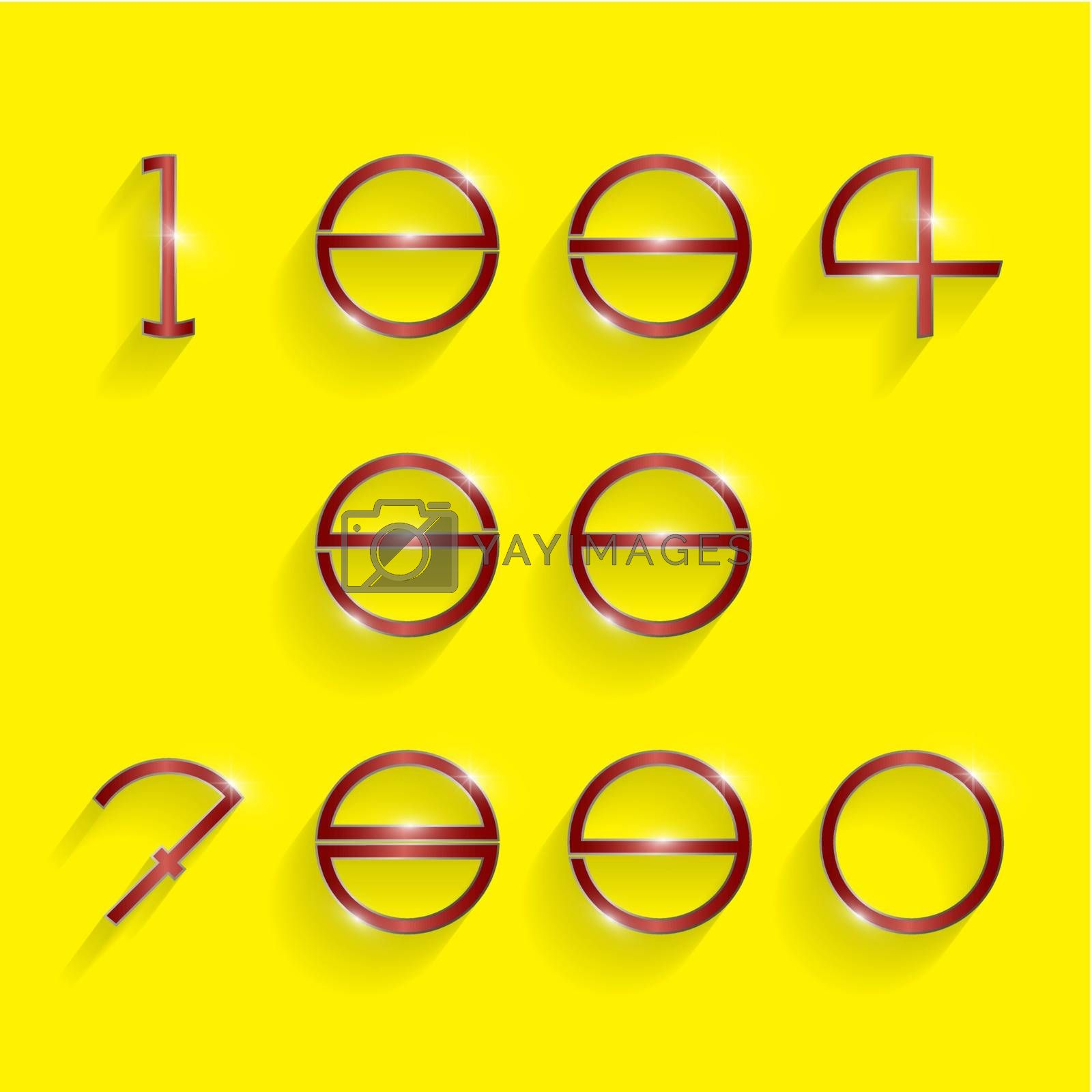 Royalty free image of circle digit style by chatchai5172