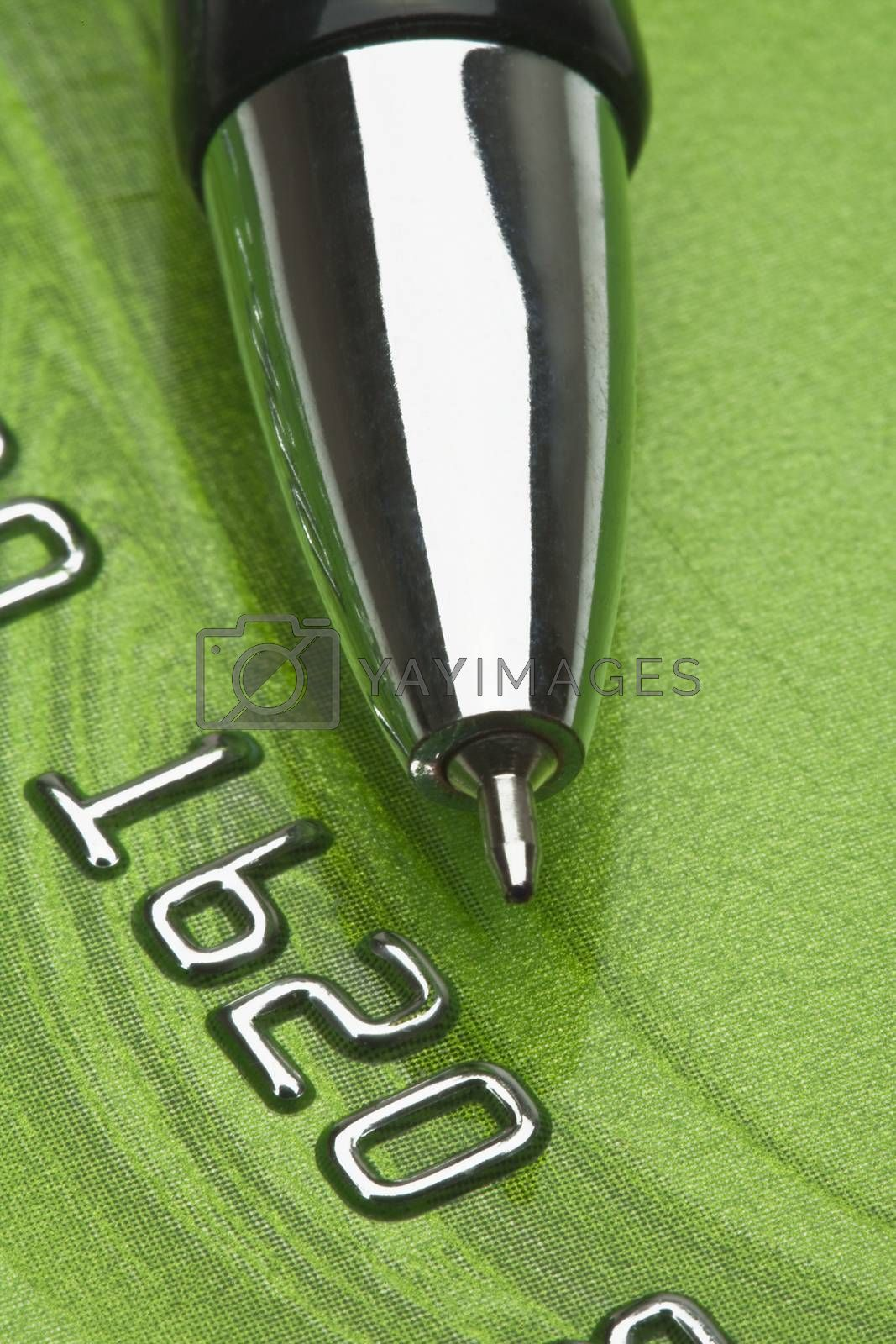 Royalty free image of credit card and pen by courtyardpix