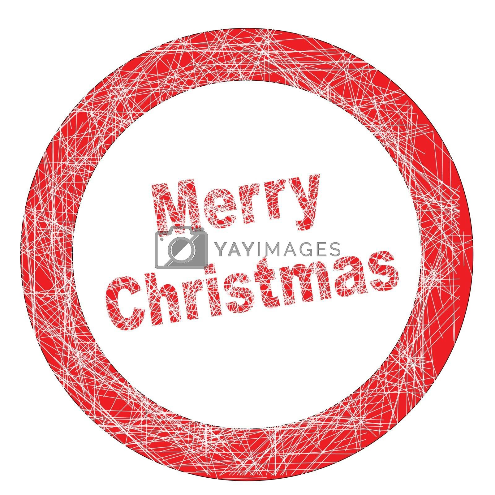Royalty free image of Merry Christmas Stamp by Bigalbaloo