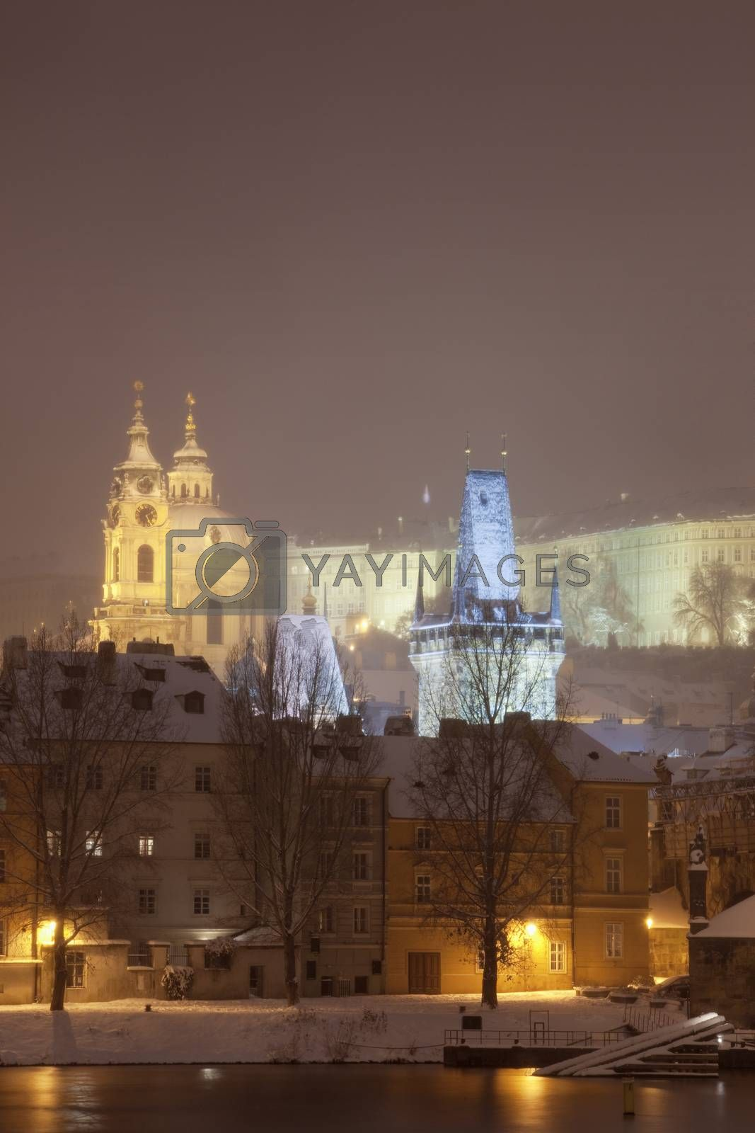 Royalty free image of prague in winter by courtyardpix