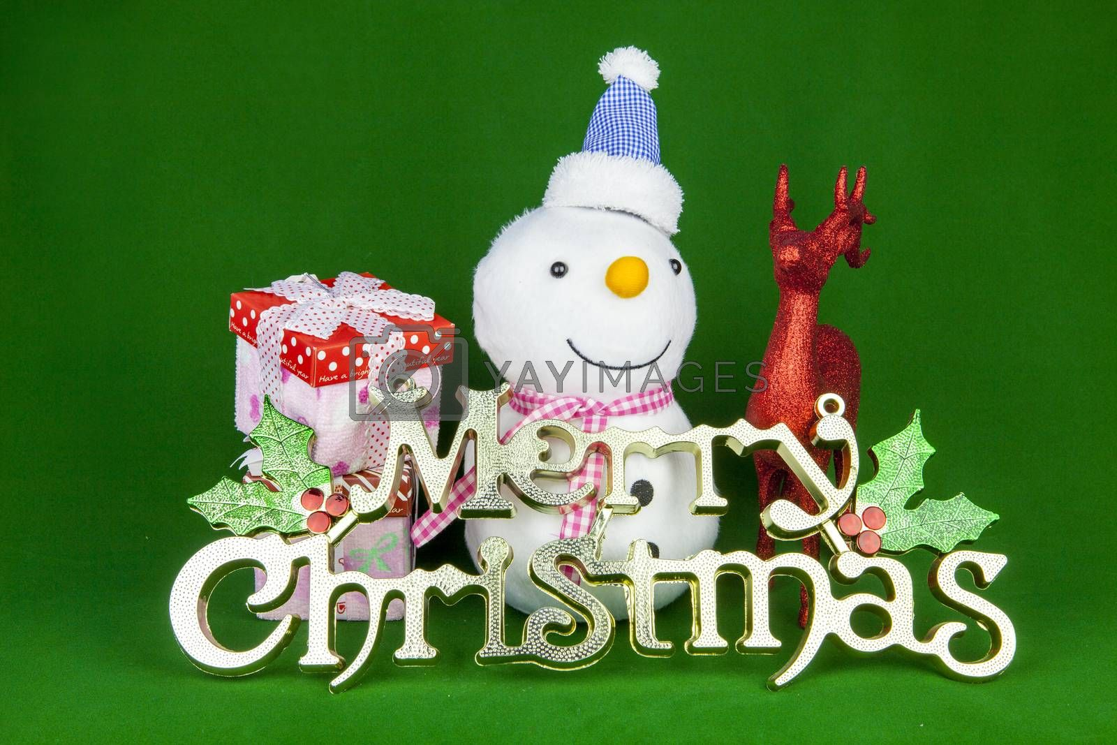 Royalty free image of Christmas snowman by Chattranusorn09