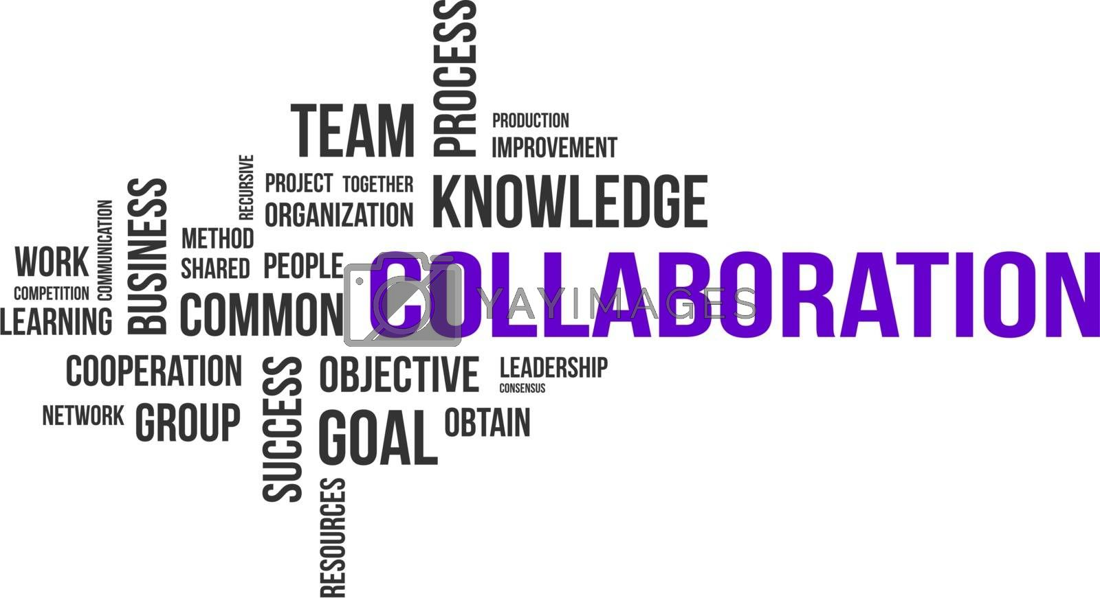 Royalty free image of word cloud - collaboration by master_art