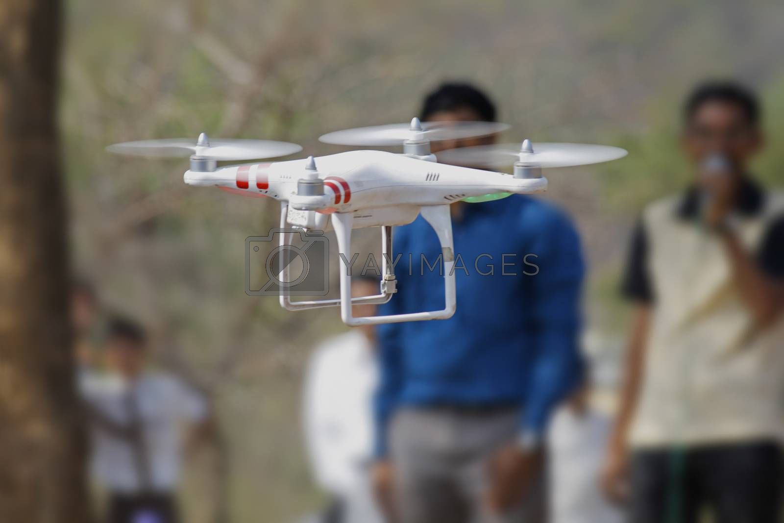 Royalty free image of drone helicopter by yands