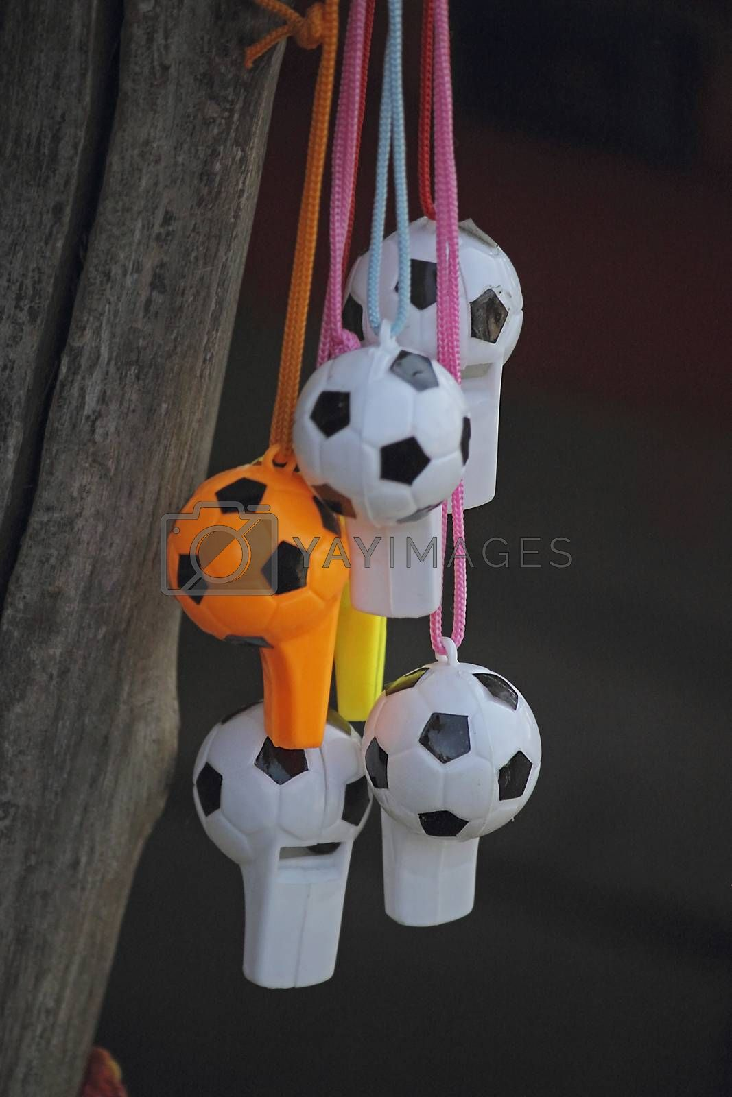 Royalty free image of whistle football shape for sale by yands