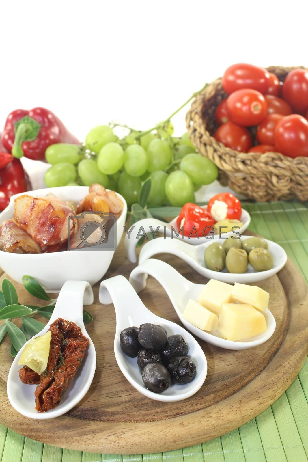 Royalty free image of Tapas with bacon by discovery