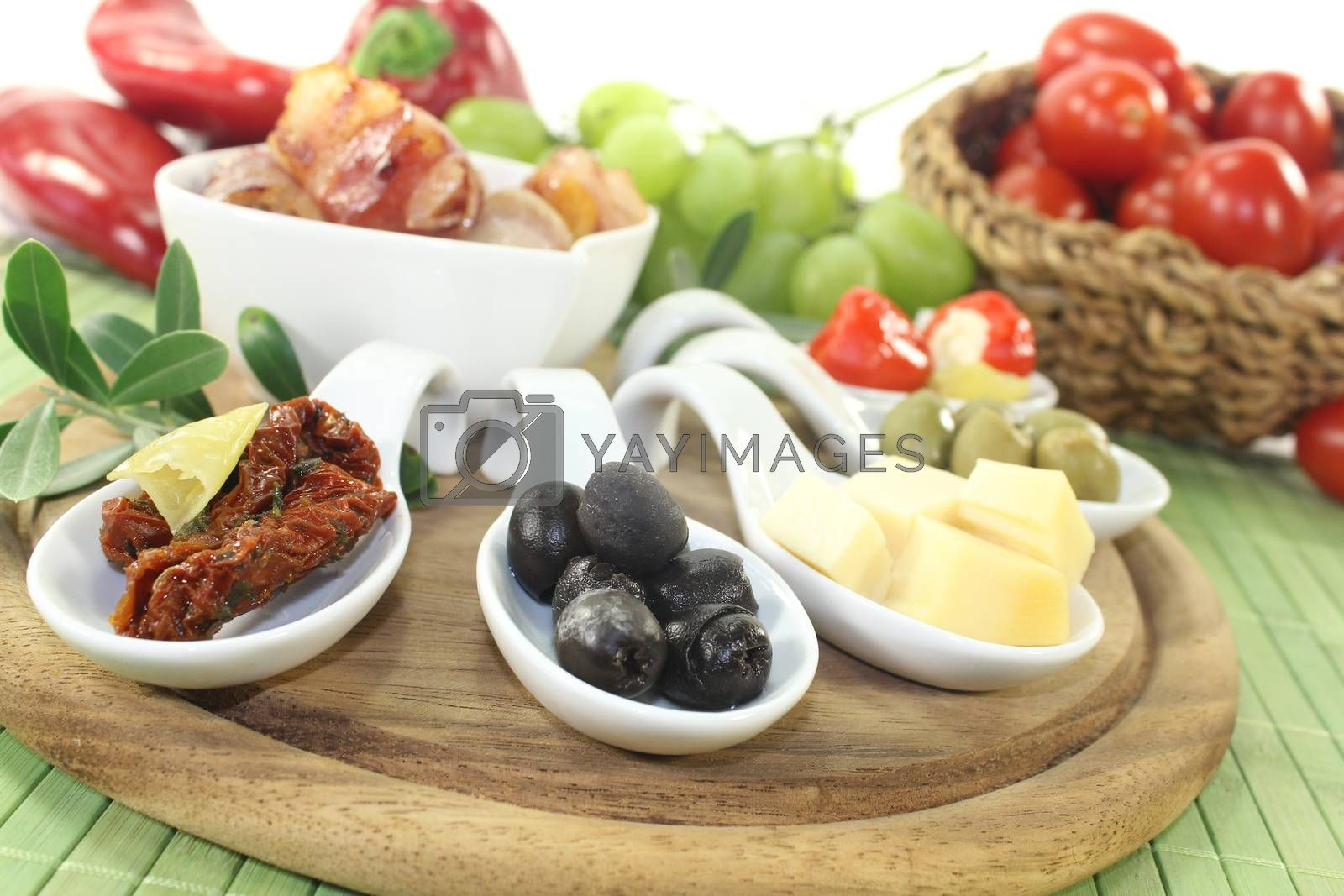 Tapas with prunes, figs and apricots by discovery