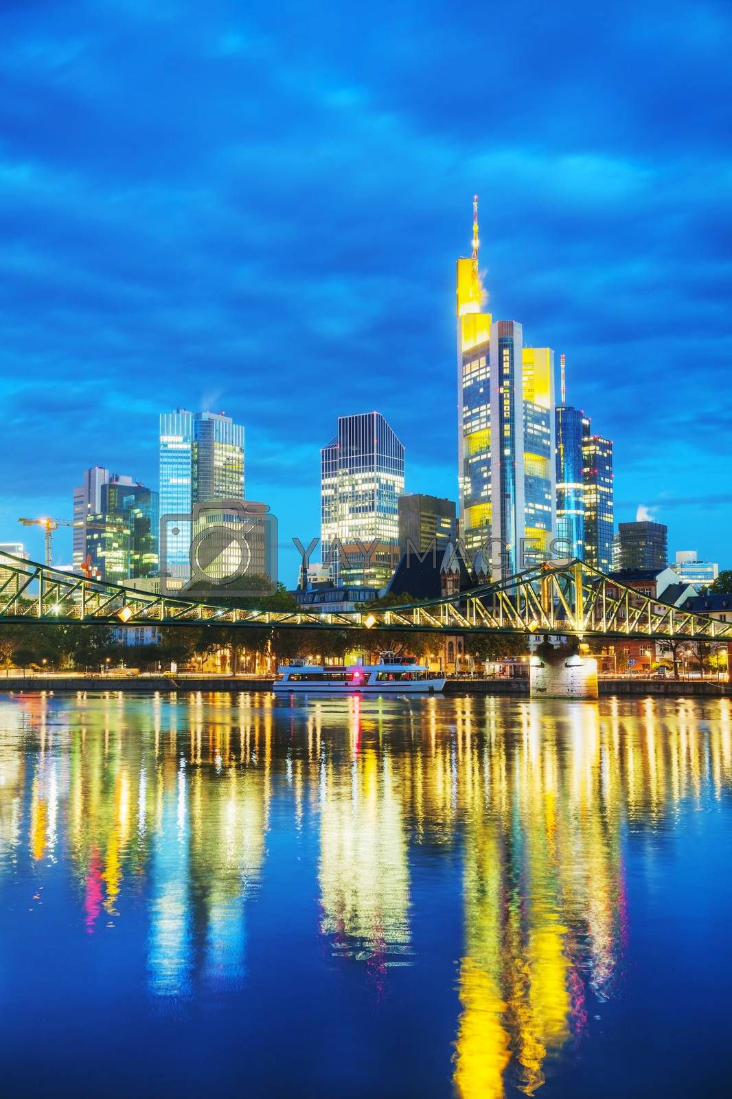Royalty free image of Frankfurt cityscape at sunset by AndreyKr