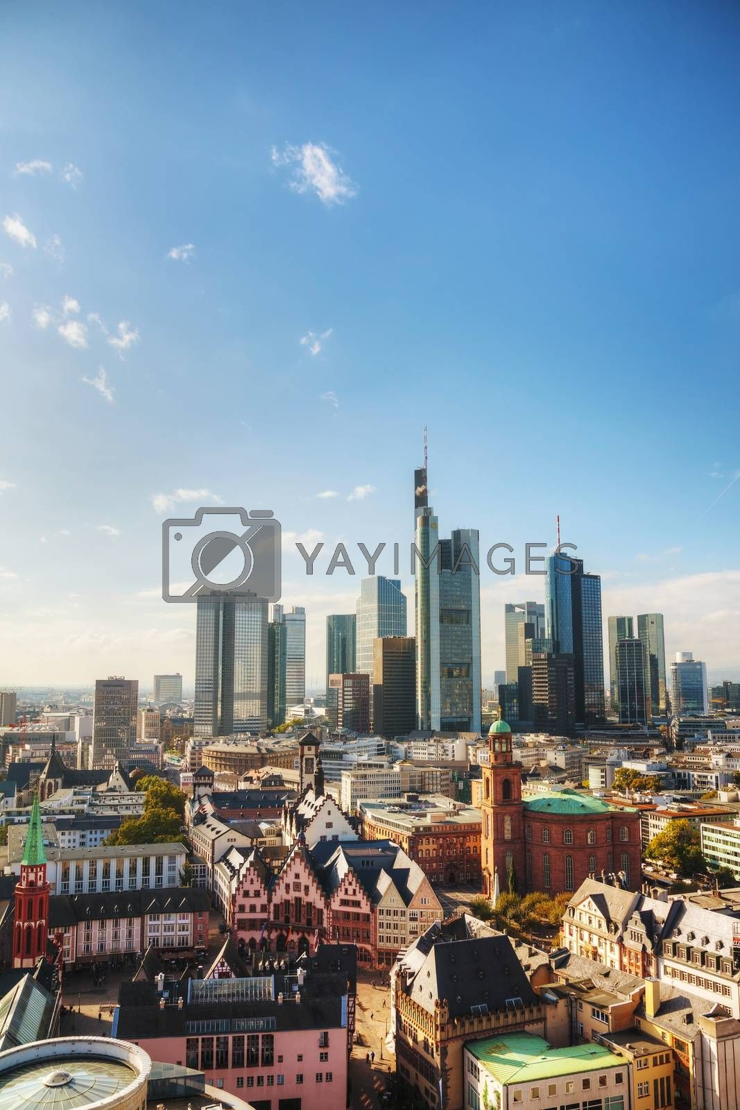 Royalty free image of Frankfurt am Maine cityscape on a sunny day by AndreyKr