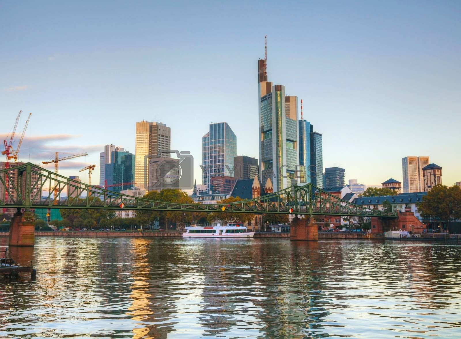 Royalty free image of Frankfurt cityscape at sunrise by AndreyKr
