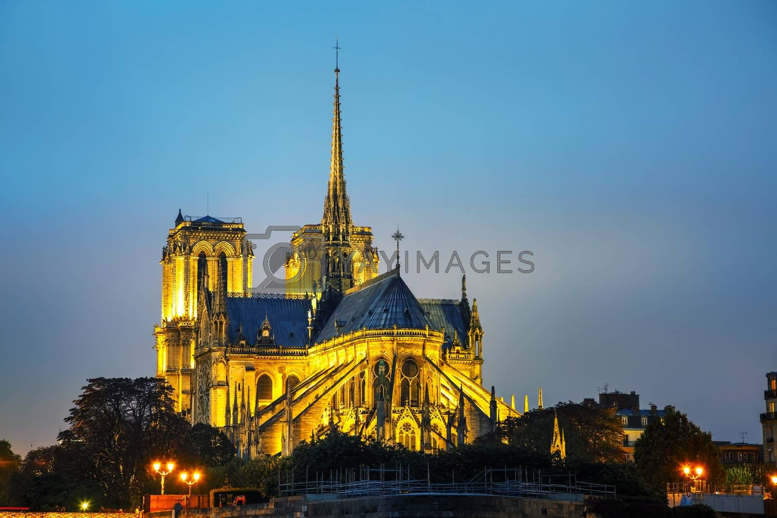 Royalty free image of Notre Dame de Paris cathedral by AndreyKr