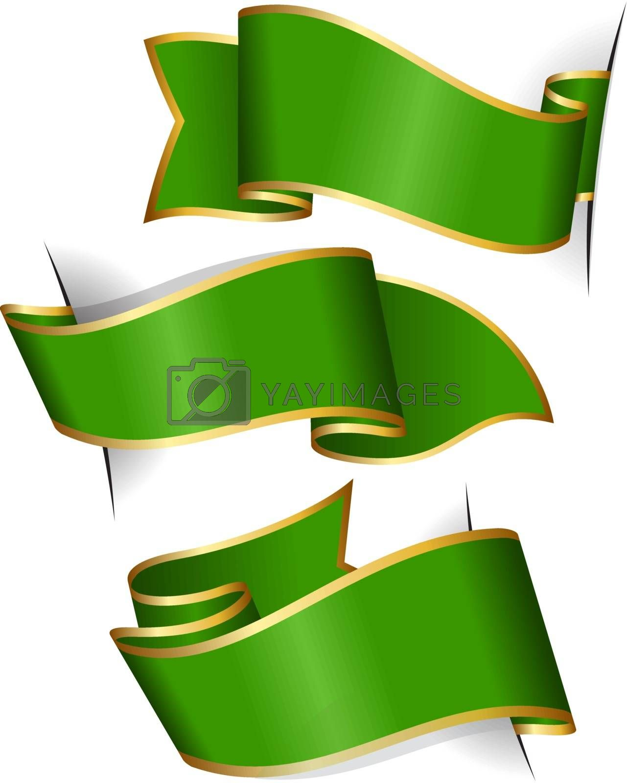 Royalty free image of Green ribbon collection by zybr78