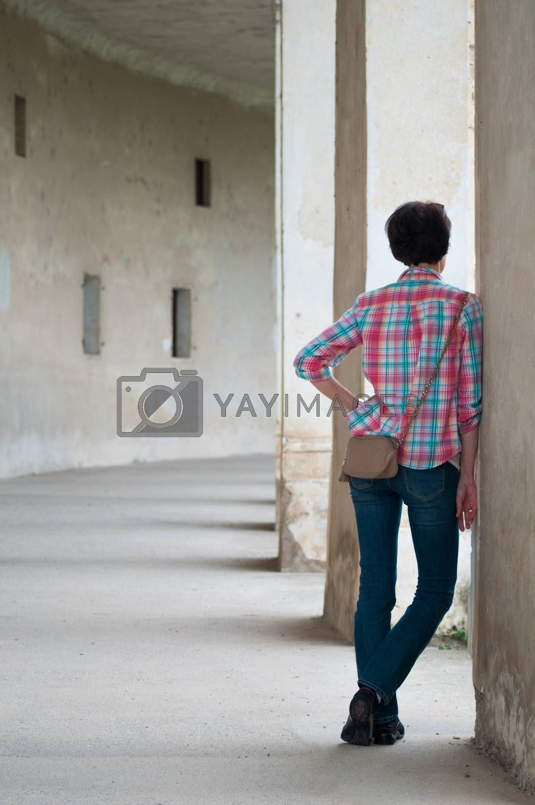 Young Woman Standing by rafalstachura