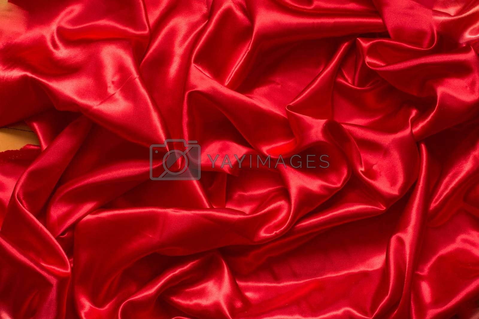 Royalty free image of Red satin/silk fabric  by Supertooper